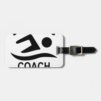 Swimming Coach Tee Shirt.png Luggage Tag