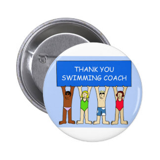 Swimming Coach Thanks 6 Cm Round Badge