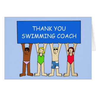 Swimming Coach Thanks Card