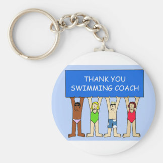 Swimming Coach Thanks Key Ring