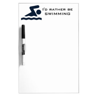 Swimming Design Dry Erase Board