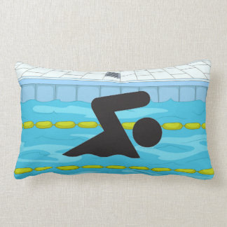 Swimming Design Throw Pillow