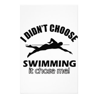 Swimming Designs Stationery