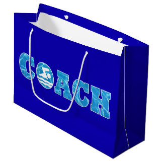 Swimming & Diving Coach Pool Water Swim Coach's Large Gift Bag