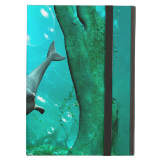 Swimming dolphin in a fantasy world case for iPad air