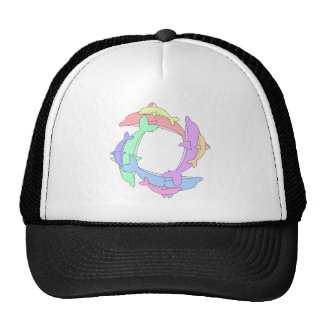 Swimming Dolphins And Babies Hat