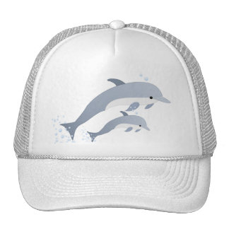 Swimming Dolphins Cap