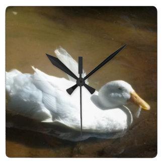 Swimming Duck Clock