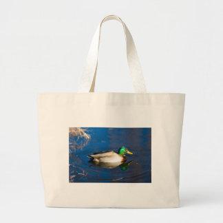 Swimming Duck Jumbo Tote Bag
