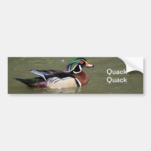 Swimming Duck Photograph Bumper Sticker