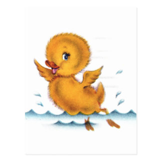 Swimming Duckie Postcard