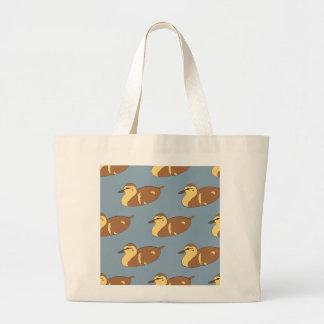 Swimming Ducks Large Tote Bag