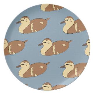 Swimming Ducks Plate