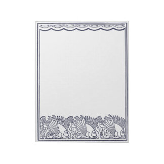 Swimming Fish Below the Waves Notepads