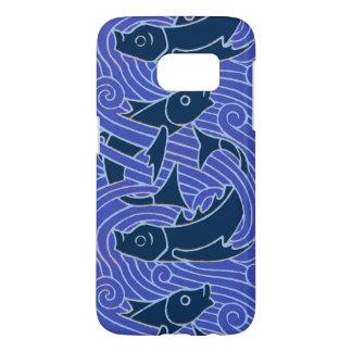 swimming fish blue