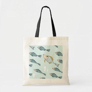 Swimming fish tote bag