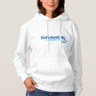 Swimming Fly Back Breast Free Typographic Text Hoodie