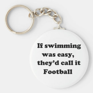 Swimming Football Key Ring
