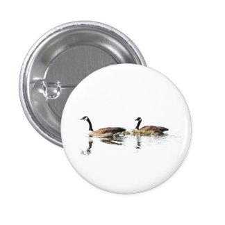 Swimming Geese 3 Cm Round Badge
