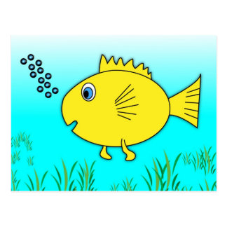 Swimming Goldfish Postcard