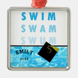 Swimming Graduation Metal Ornament