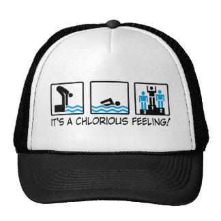 swimming mesh hats