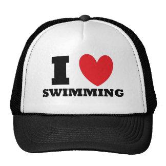 Swimming I Love Swimming Mesh Hat