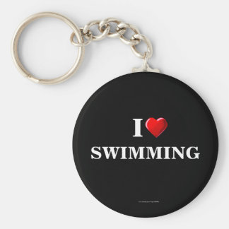 Swimming: I Love Swimming keychain