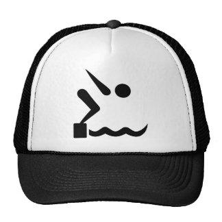 Swimming icon hat