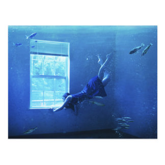 Swimming In A Room Postcard