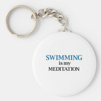 Swimming is my Meditation Key Ring