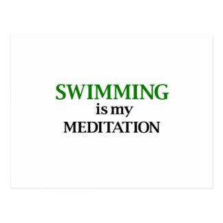 Swimming is my Meditation Postcard