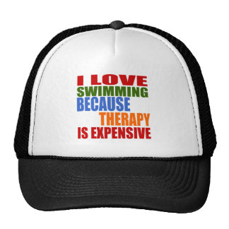 Swimming Is My Therapy Cap