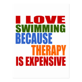 Swimming Is My Therapy Postcard