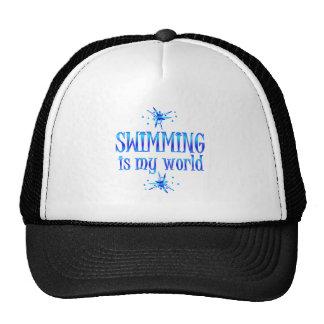 Swimming is My World Trucker Hats