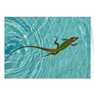Swimming Lizard blank card - higher res.