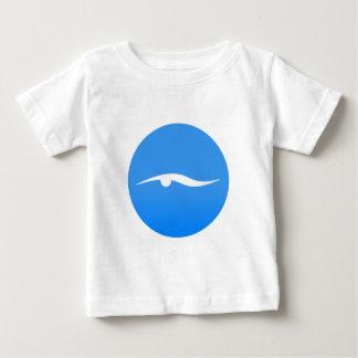Swimming logo on T-shirt