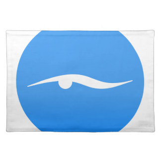 Swimming logo on T-shirt Placemat