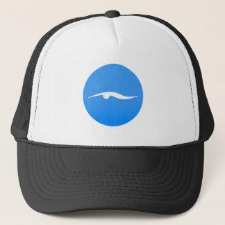 Swimming logo on T-shirt Trucker Hat