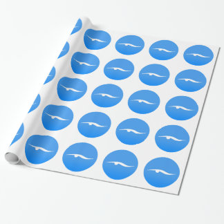 Swimming logo on T-shirt Wrapping Paper