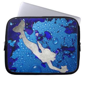 Swimming Mermaid Art by Lita Kelley Laptop Sleeve