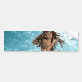 Swimming Mermaid Bumper Stickers