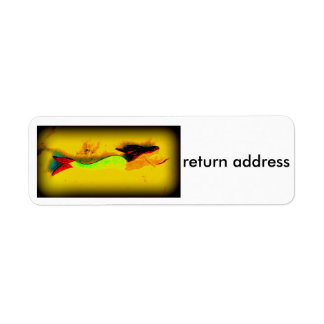 swimming mermaid return address label