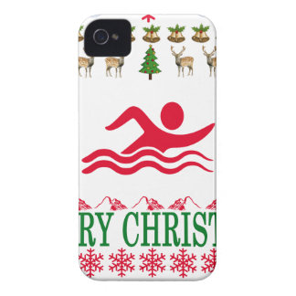 SWIMMING MERRY CHRISTMAS . Case-Mate iPhone 4 CASE