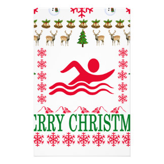 SWIMMING MERRY CHRISTMAS . STATIONERY