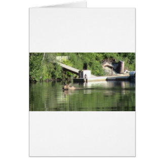 Swimming Moose Card