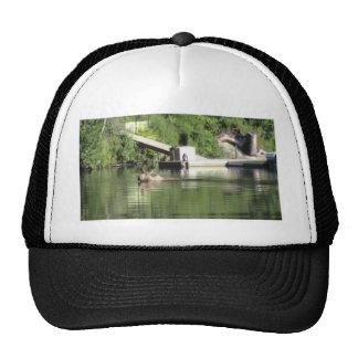 Swimming Moose Trucker Hat