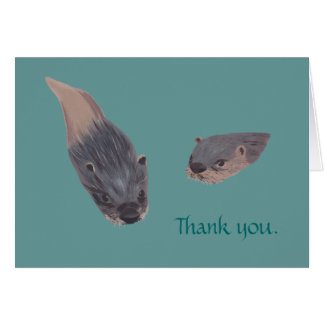 Swimming Otters Thank you Cards