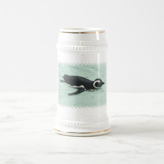 Swimming Penguin Beer Stein