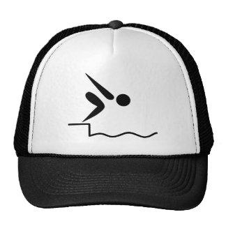 Swimming Pictogram Mesh Hat